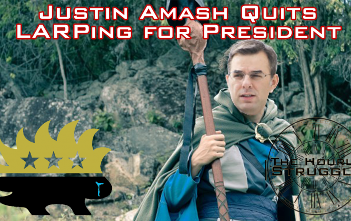 Justin Amash Quits LARPing for President